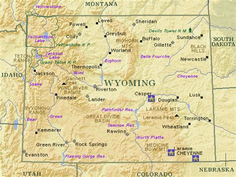 Wyoming Search Wyoming Map With Cities Driverlayer Search Engine
