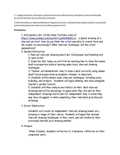 doodle lesson plan charcoal drawing lesson plan