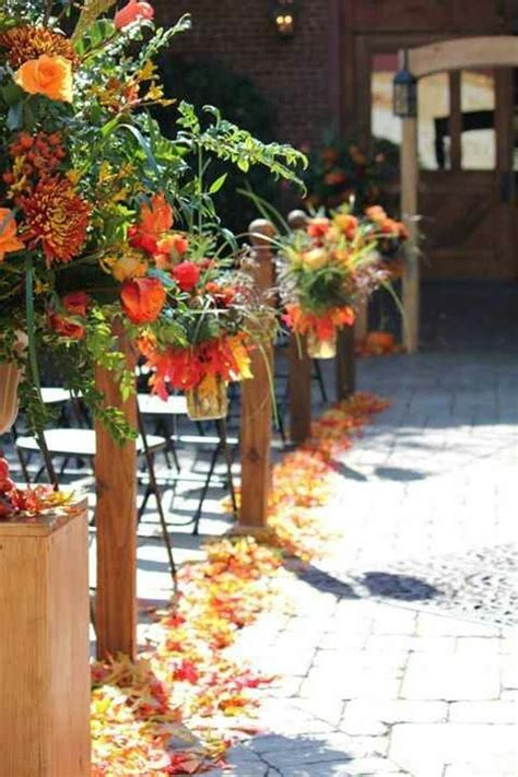 stunning fall wedding aisle decor ideas weddingomania