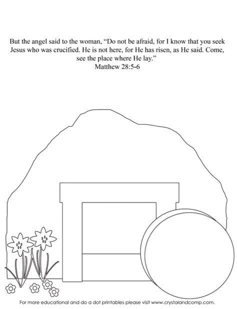 empty tomb coloring pages preschool kid color pages easter
