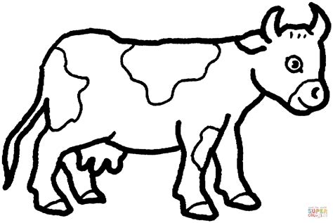 Cow 20 Coloring Online Super Coloring Photo To Coloring Page