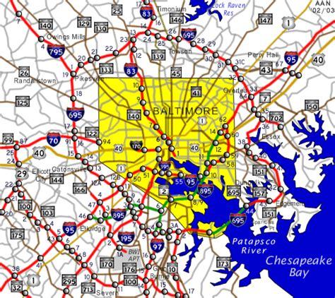 baltimore city map baltimore map free printable maps