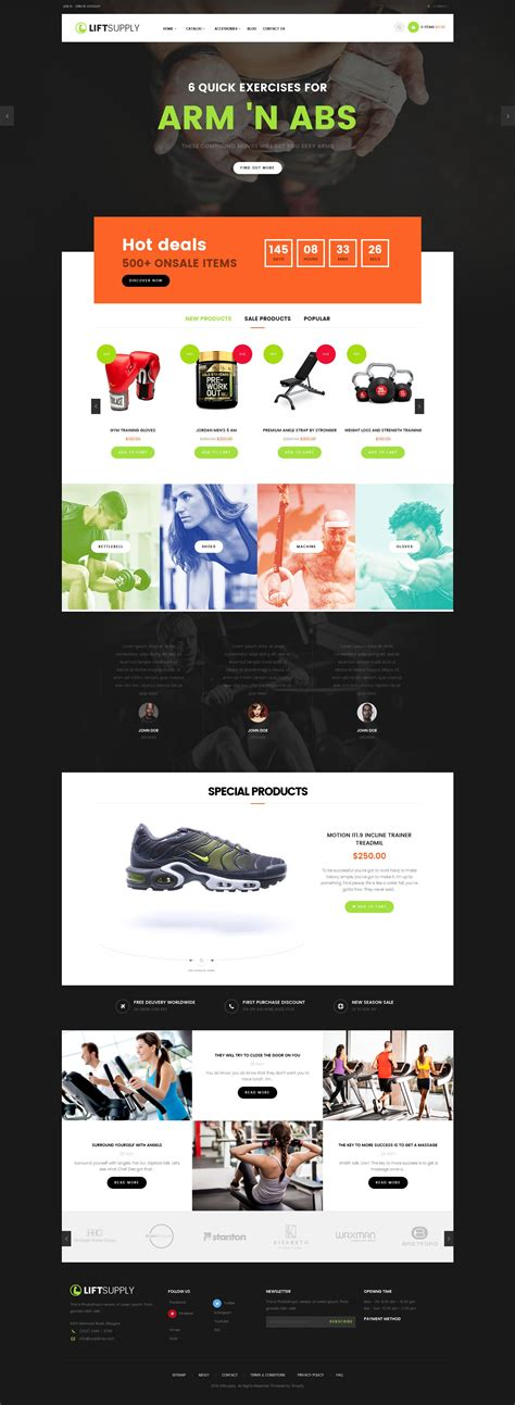 shopify themes supply lift supply single product shopify theme ecommerce