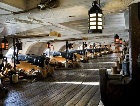 boat wax bcf the lower gun deck of the hms victory nelson s flagship