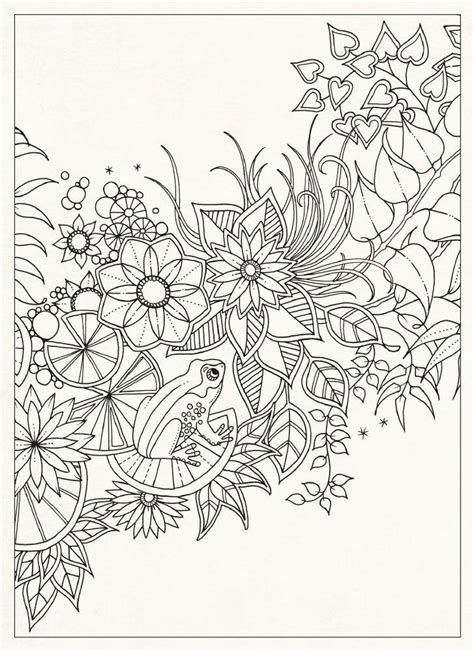 coloring book postcards secret gardens coloring for adults and coloring on