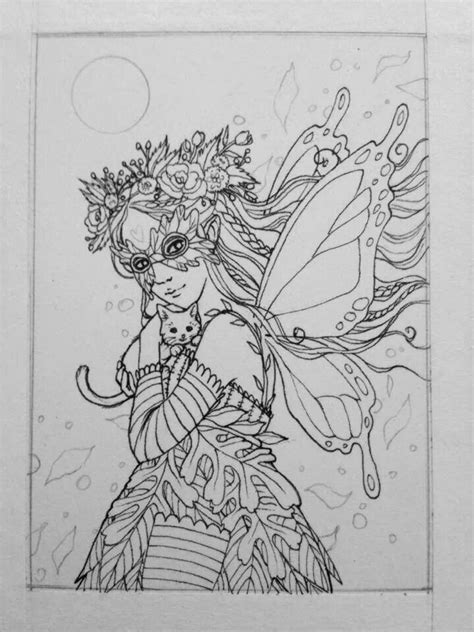 faerie coloring pages pinterest