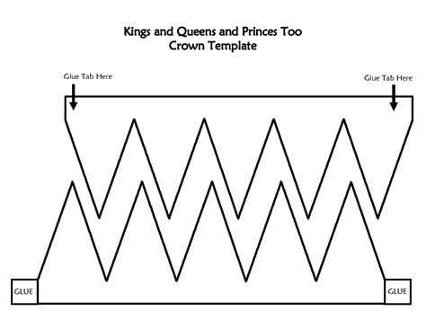 printable crown template gallery templates design ideas