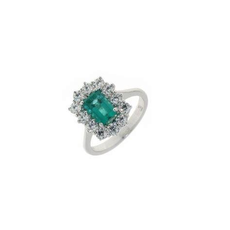 anello fiore diamanti anello fiore con smeraldo e diamanti