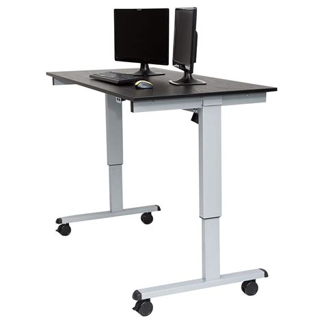 Modern Stand Up Desk Malibu 60 Quot Modern Stand Up Desk Silver Black Eurway