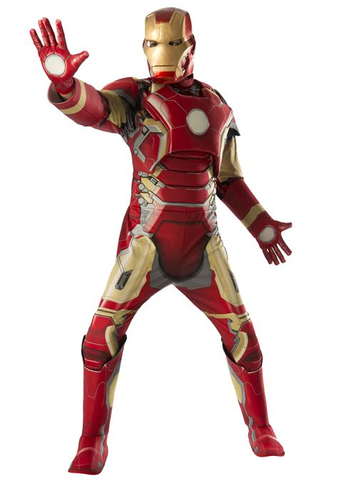 adult deluxe iron man mark avengers costume