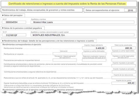 formato de ingresos y retenciones c 243 mo listar el certificado de ingresos y retenciones
