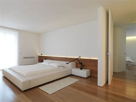 minimal interior bedroom wood flooring minimalist interior in tuscany italy by victor vasilev