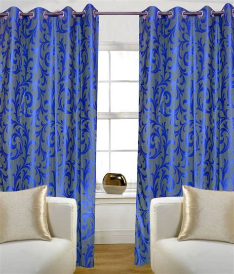 blue eyelet curtains homezaara single door eyelet curtain blue buy homezaara