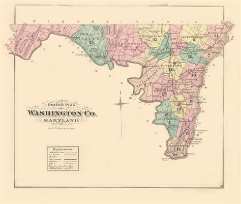 Md Wash washington co an illustrated atlas of washington county maryland