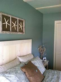 Beachy Room Decor Custom Headboard With Wall Diy Bedroom Cottage Beaches Wall Colors