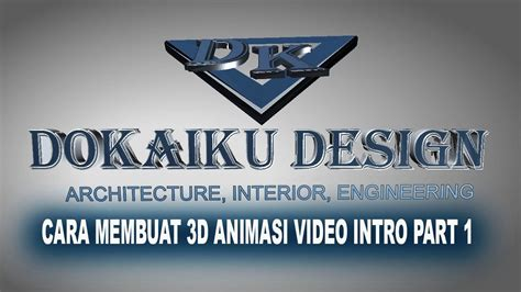 cara membuat video animasi you tube cara membuat video intro 3d animasi part 1 with subtitle