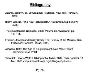 Below is a sample bibliography and some links to websites to help you