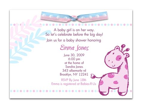 Baby Shower Wording For A by Baby Shower Invitation Wording For A Cimvitation