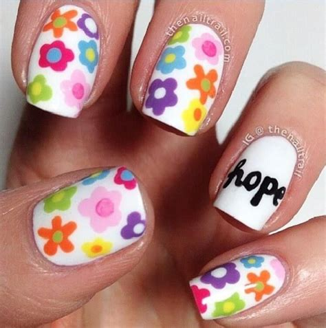 manicura decoracion de u as u 241 as con flores para ni 241 as u 241 itas en 2018 pinterest