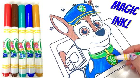 magic ink coloring books paw patrol crayola color magic ink marker