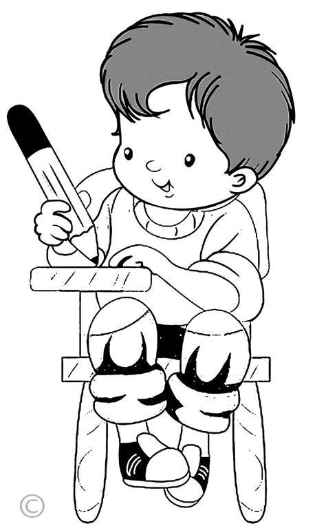 kid clipart black and white writing clipart clipartion