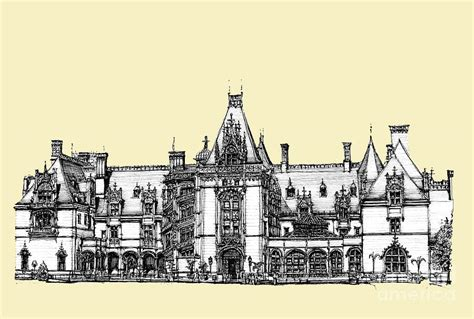 House Plans With Dimensions ivory biltmore estate drawing by building art