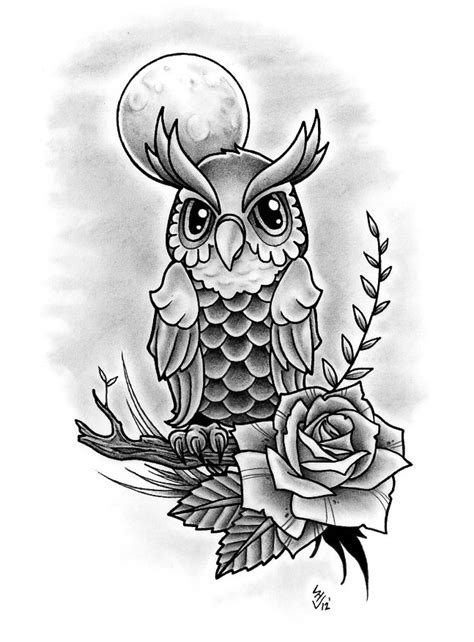 black and white owl tattoo designs owl design by hamdoggz on deviantart