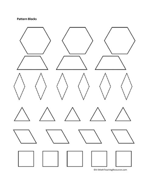 Pattern Block Templates by Pattern Block Templates Cyberuse