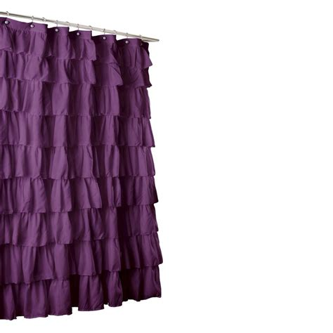 purple ruffle shower curtain 17 best images about purple shower curtain on pinterest