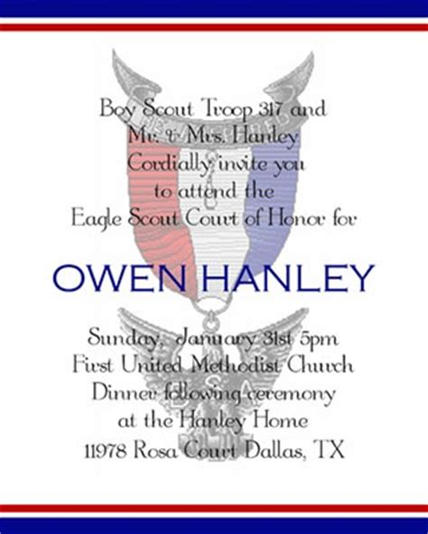 eagle scout invitation template eagle scout invitation scout ideas
