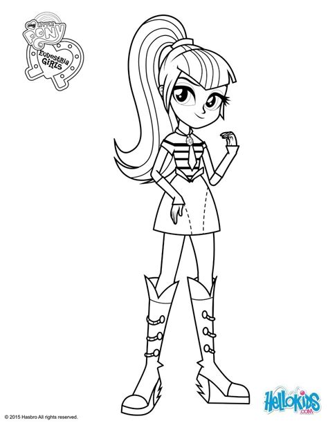 Coloriages Sonata Dusk Fr Hellokids Com Mlp Eg Coloring Pages