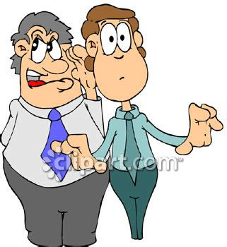 gossip or hearsay meaning man telling a secret to a clipart panda free clipart