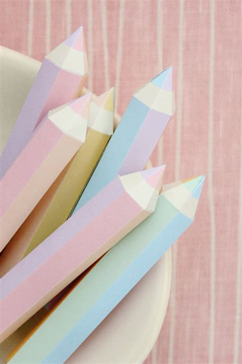 How To Make A Paper Pencil - paper pencils from upon a fold paper crave