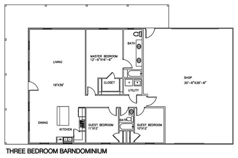 shop building floor plans 30 barndominium floor plans for different purpose