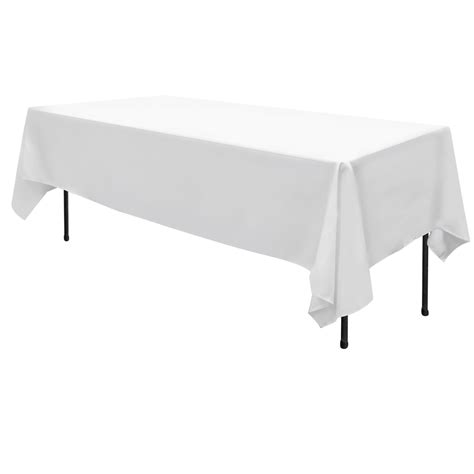 6 Pcs Wedding Table Cloth Rectangle 259cm White