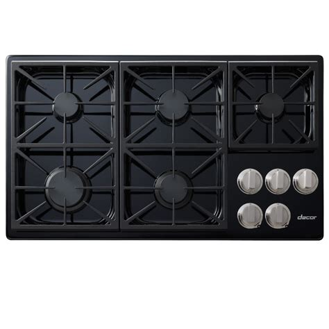 Dacor Gas Cooktops shop dacor discovery 5 burner gas cooktop black common 36 in actual 36 in at lowes