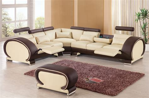 attractive cheap living room furniture set brown cream two tone sectional sofa set european design living sofa