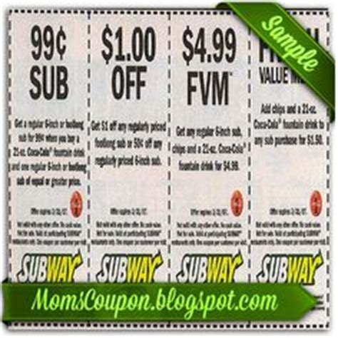 printable subway coupons 2012 1000 images about coupon for 2015 february on pinterest