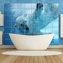 bear bathroom tiles