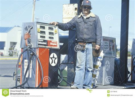 gas station attendant editorial image image 23178645
