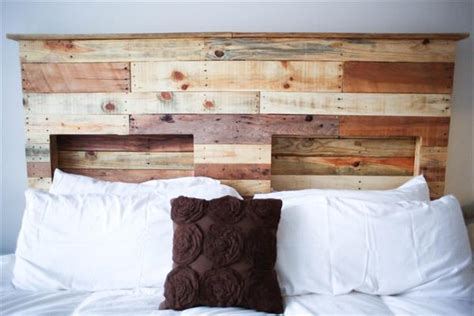 headboard made of pallets diy pallet headboard pallet furniture plans