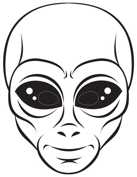 printable alien mask template alien pictures for kids cliparts co