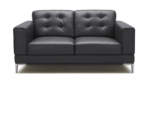black bonded leather sofa dreamfurniture com larkspur modern black bonded