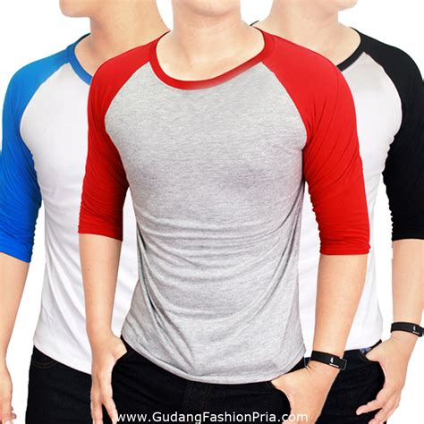 Kaos Black 4 20 Kaos Pria view gudang fashion kaos polos panjang o neck merah newest