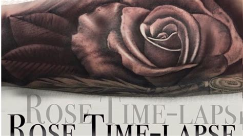 youtube rose tattoo time lapse realistic