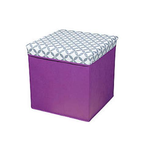 Bintopia Folding Storage Ottoman Purple From Kmart Purple Ottoman With Storage