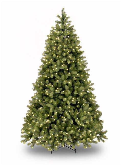 7ft pre lit bayberry spruce feel real artificial christmas