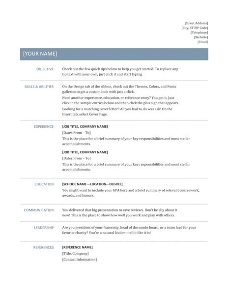 Microsoft Word Basic Resume Template by Microsoft Office 365 Sle Resume Templates Template For
