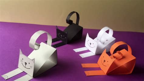 How To Make A Paper Cat - paper cat