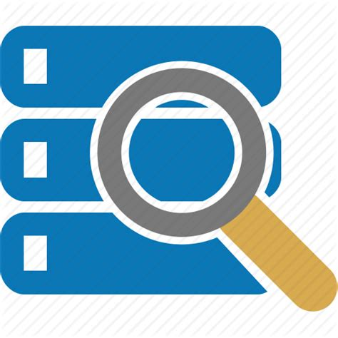Search Data Data Databank Database Explore Search View Icon